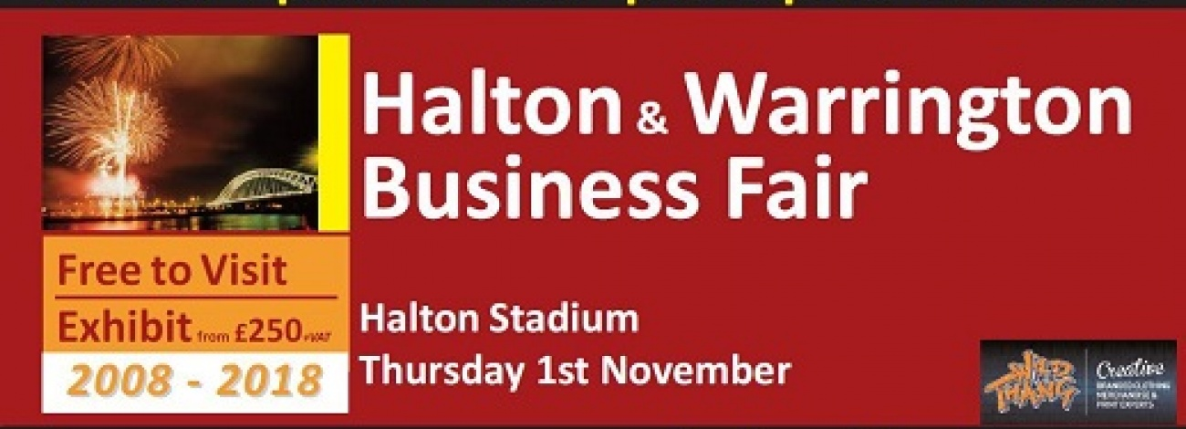 Halton Chamber will once again be supporting Halton and Warrington Business Fair - Showcasing Halton Businesses since 2008